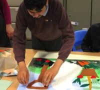 History Week – making Peter Rabbit collage