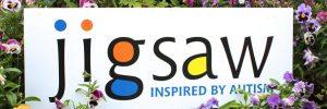 Jigsaw Logo in flowers