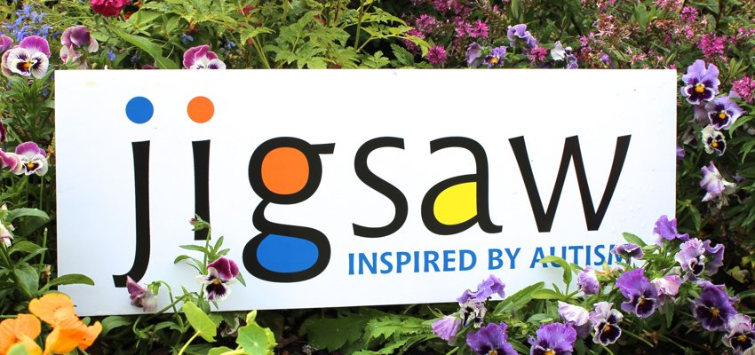 Jigsaw Logo in flowers