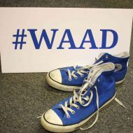 Blue shoes for WAAD