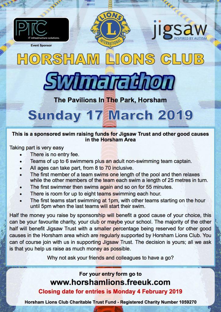 Horsham Lions Swimarathon