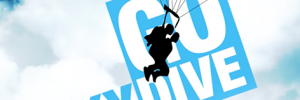 Image of a skydiver to illustrate Jump for Jigsaw event