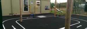 Painted track in Early Years Playground