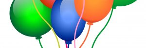 brightly coloured balloons